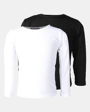 Utopia 2 Pack Basic Long Sleeve Tee Black/White