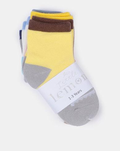 Little Lemon Animal Socks Multi