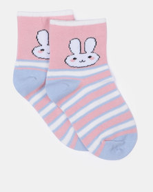 Little Lemon Bunny Socks Multi