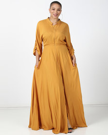 Plus-Fab Bathobile Dress Mustard