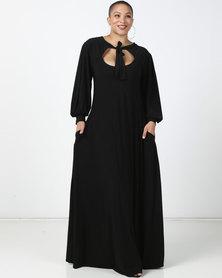 Plus-Fab Brandy Knit Dress Black