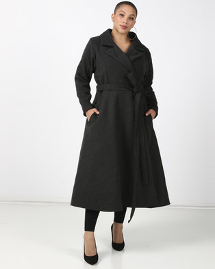 Plus-Fab Wrap Coat Grey