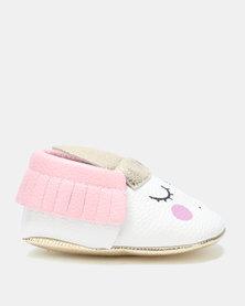 Bugsy Boo Unicorn Shoes White