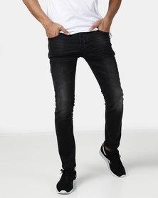 KSTR Flash Slim Fit Denim Jeans Black