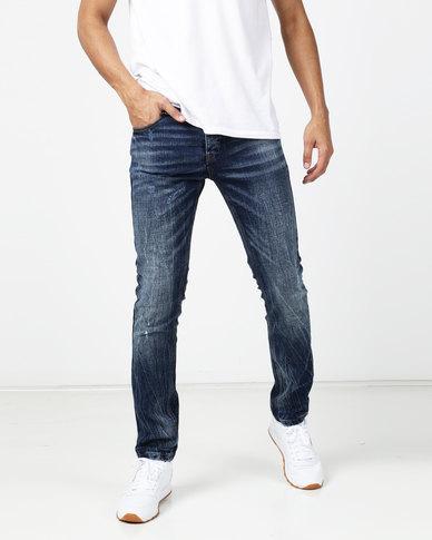 acdb9263d1 KSTR Plein Slim Fit Denim Jeans Lightning Blue