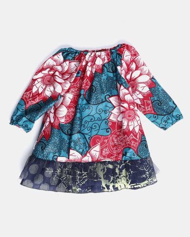 Kieke Longsleeve Raglan Dress Blue