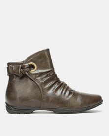 Franco Ceccato Flat Ankle Boots Taupe
