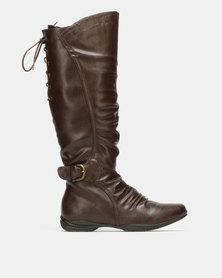 Franco Ceccato Mid Calf Dress Boots Choc