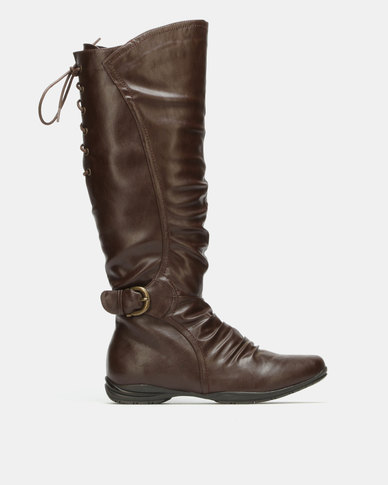 Franco Ceccato Mid Calf Dress Boots Choc