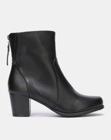 Franco Ceccato Heeled Ankle Boots Black