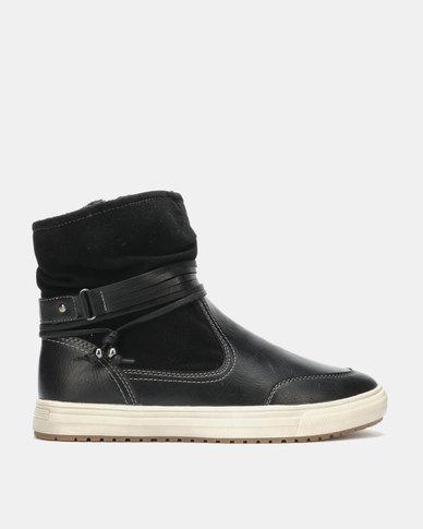 Franco Ceccato Flat Casual Boots Black