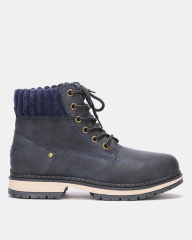 Franco Ceccato Lace Up Boots Navy