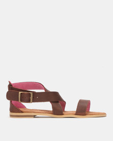 John Buck Emily Louise Cathy Sandals Brown