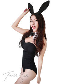 Talullah Suede The Bunny Matching Set, Spandex Black