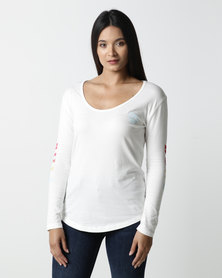 Billabong Made in the Shade Long Sleeve T-shirt White