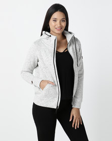 Billabong Boundary Zip up Sweatshirt Grey