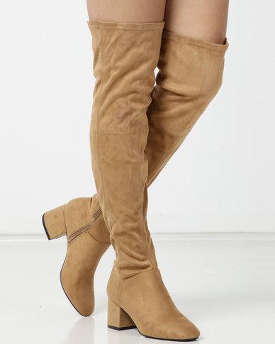 Utopia OTK Boots Neutrals