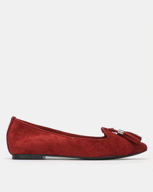 Utopia Tassle Slip Ons Red