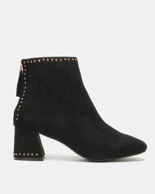 Utopia Eyelet Boots Black