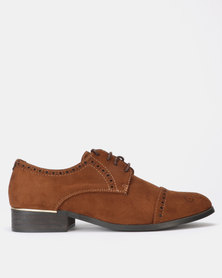 Utopia Brogue Lace Ups Brown