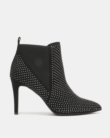 Utopia Studded Gusset Boots Black