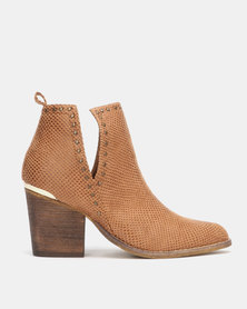 Utopia Cut Out Boots Brown