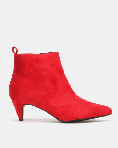 Utopia Kitten Boots Red