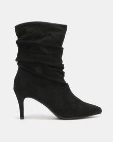 Utopia Mid Calf Shuffle Boots Black