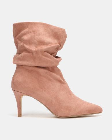 Utopia Mid Calf Shuffle Boots Pink