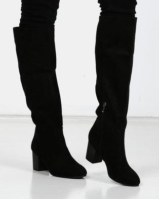 Utopia Knee High Heel Boots Black