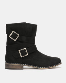 Utopia Buckle Boots Black