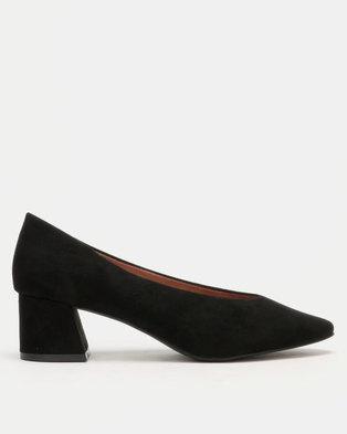 Utopia High Cut Heels Black