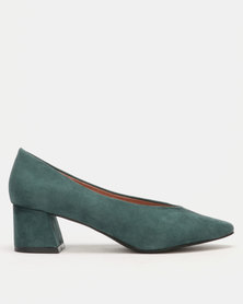 Utopia High Cut Heels Green