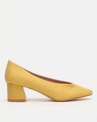 Utopia Highy Cut Heels Yellow