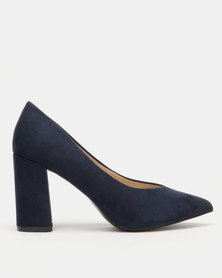 Utopia Block Heel Courts Blue
