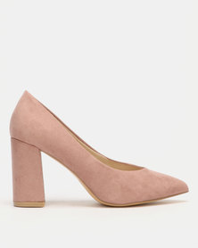 Utopia Block Heel Courts Pink