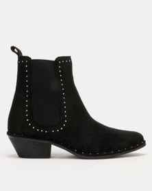 Utopia Stud Trim Chelsea Boot Black