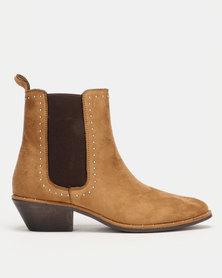 Utopia Stud Trim Chelsea Boots Neutrals