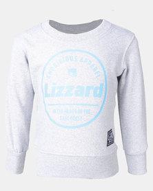 Lizzard Gough Melange Tots Pullover Crew Grey