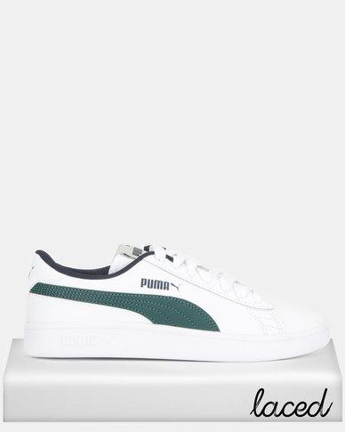 Puma Smash v2 L Jr Sneakers White/Green