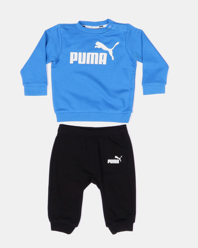 Puma Bunting Minicats ESS Jogger and Top Blue