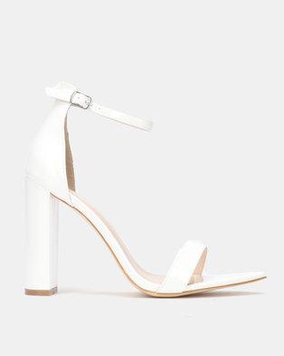 Public Desire Miao Heels White Patent