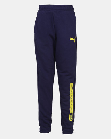 Puma Peacoat Active Sports Sweat Pants Blue