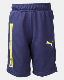 Puma Peacoat Active Sports Sweat Shorts Blue