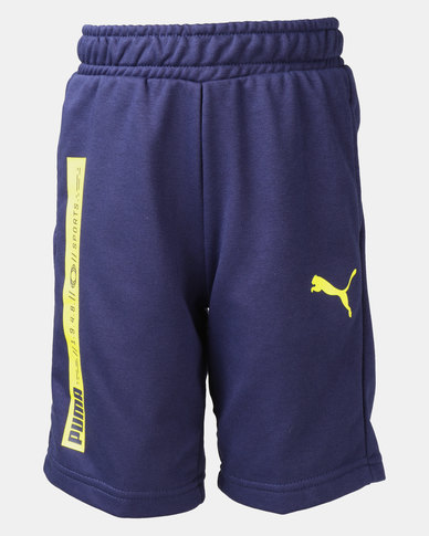Puma Peacoat Active Sports Sweat Shorts Blue
