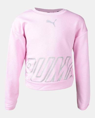 Puma Pale Pink Alpha Crew Sweatshirt  Pink