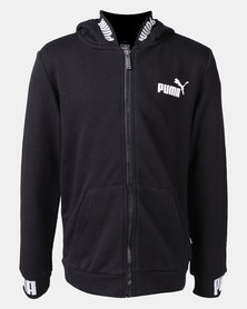 Puma Cotton Amplified Hooded Jacket Black