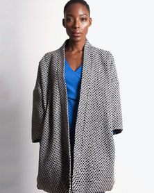 Marique Yssel Kimono Coat - Black & White