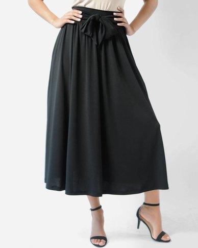 Marique Yssel Knit Midi Skirt - Black