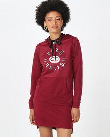 ECKÓ Unltd Hooded Dress Burgundy